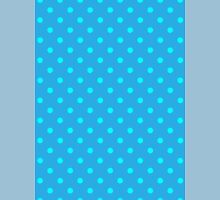 Polkadots Blue and Turquoise Unisex T-Shirt