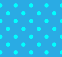 Polkadots Blue and Turquoise Sticker