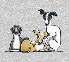 Italian Greyhound Trio One Piece - Long Sleeve