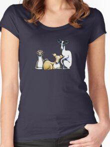 Italian Greyhound Trio Women's Fitted Scoop T-Shirt