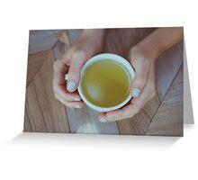 Mint Green Tea Greeting Card