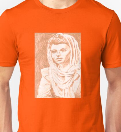 Women in Headscarf- Sepia Unisex T-Shirt