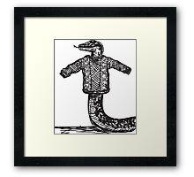 Slithery Sweater  Framed Print