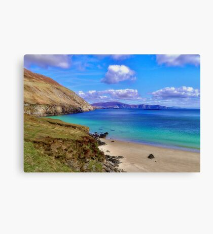 Keem Bay With The Minaun Cliffs In The Distance Off Achill Island Canvas Print