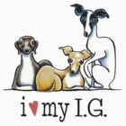 Italian Greyhound Lover {Dark Type} by offleashart