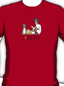 Italian Greyhound Lover {Dark Type} T-Shirt