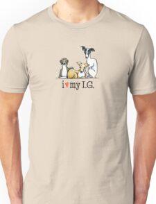 Italian Greyhound Lover {Dark Type} Unisex T-Shirt
