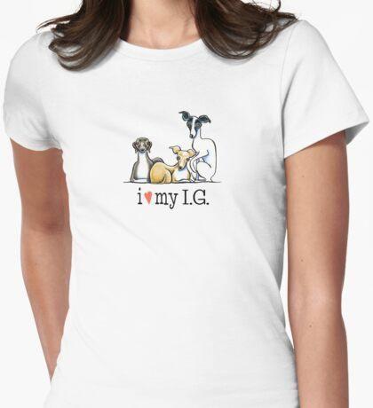 Italian Greyhound Lover {Dark Type} Womens Fitted T-Shirt