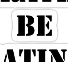 Right Now, I'd Rather Be Eating Pizza - Black Text Sticker