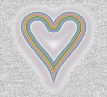 Heart Rainbow of Love 2  One Piece - Long Sleeve