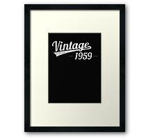Vintage 1959  Framed Print