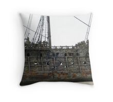 The Flying Dutchman close-up Throw Pillow
