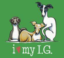 Italian Greyhound Lover {White Type} Kids Clothes