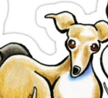 Italian Greyhound Lover {White Type} Sticker