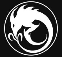 Sliver Ouroboros Symbol -White- by ChronoStar