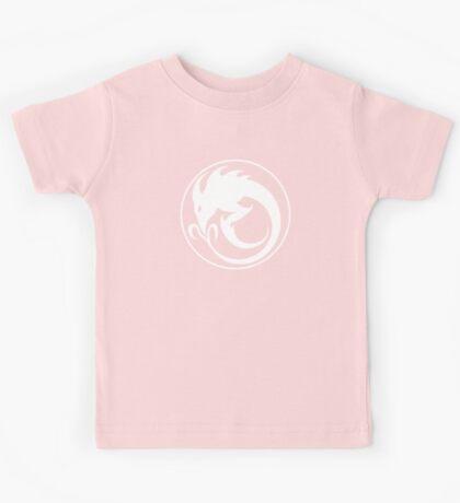 Sliver Ouroboros Symbol -White- Kids Tee