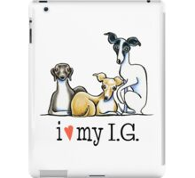 Italian Greyhound Lover {Dark Type} iPad Case/Skin