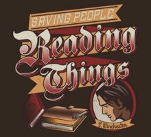 Saving People Reading Things - Sam Winchester by frauholle