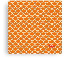 Fish scales orange Canvas Print