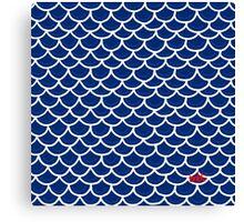 Fish scales blue Canvas Print