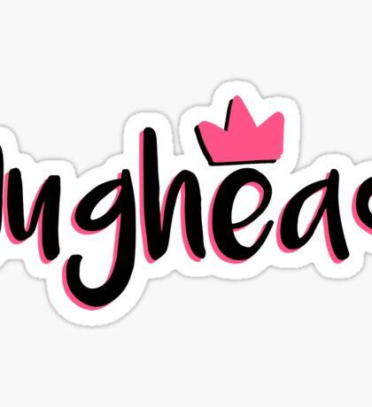 Jughead Pink Crown Sticker