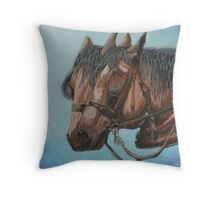 Draft horses.............Flo and Joe Throw Pillow
