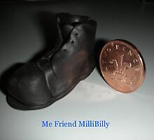 Minature old boot by Dickens