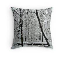 God Painting The Forest With Snow Throw Pillow