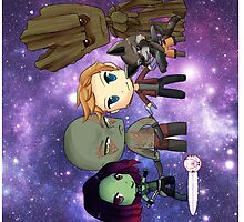 Guardians of the Galaxy Chibis by KlockworkKat by commonroompc