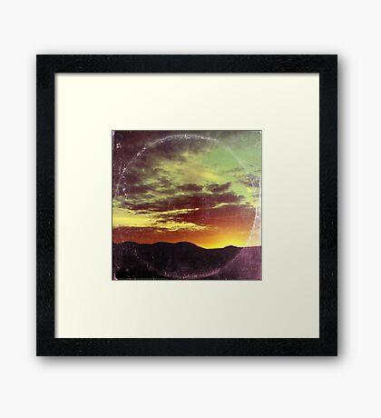 American Sunset As Vintage Album Art Framed Print