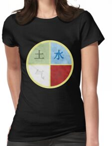 Four elements (In Chinese) Womens Fitted T-Shirt
