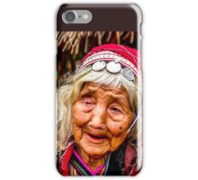 Tribal, very old and blind, Chiang Mai, Thailand iPhone Case/Skin