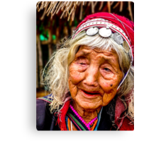 Tribal and very old, Chiang Mai, Thailand Canvas Print