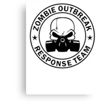 Zombie Outbreak Response Team gas mask Canvas Print