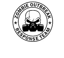 Zombie Outbreak Response Team gas mask Photographic Print