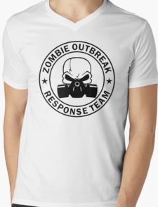 Zombie Outbreak Response Team gas mask Mens V-Neck T-Shirt