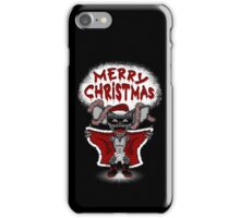 Flashing Through The Snow (B/W with text) iPhone Case/Skin
