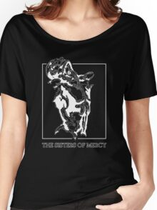 The Sisters Of Mercy - The Worlds End - Front Black and White Women's Relaxed Fit T-Shirt