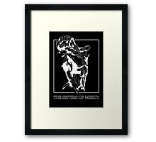 The Sisters Of Mercy - The Worlds End - Front Black and White Framed Print