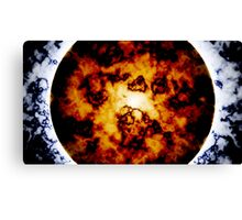 Planetary Collapse Poster Canvas Print