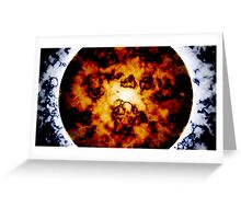Planetary Collapse Poster Greeting Card