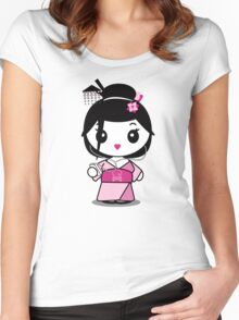 Geisha Grooves Women's Fitted Scoop T-Shirt
