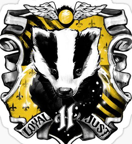 H Crest Sticker