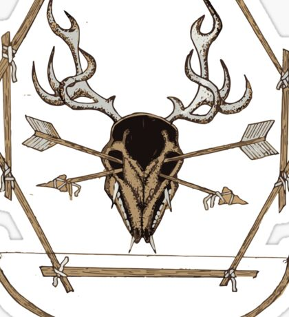 Skull and Arrows Sticker