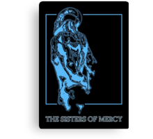 The Sisters Of Mercy - The Worlds End - Back Blue Canvas Print