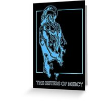 The Sisters Of Mercy - The Worlds End - Back Blue Greeting Card