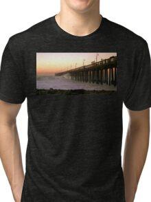Ocean Wave Storm Pier Tri-blend T-Shirt