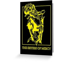 The Sisters Of Mercy - The Worlds End - Front Yellow Greeting Card