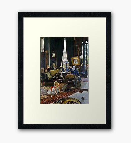 Hide and Seek Victorian Children  Framed Print