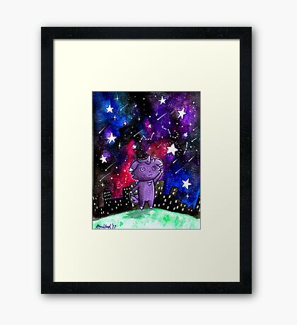 Espurr & The Galaxy Framed Print